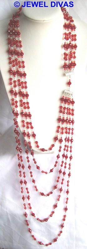 AC CHERRY 5 row necklace