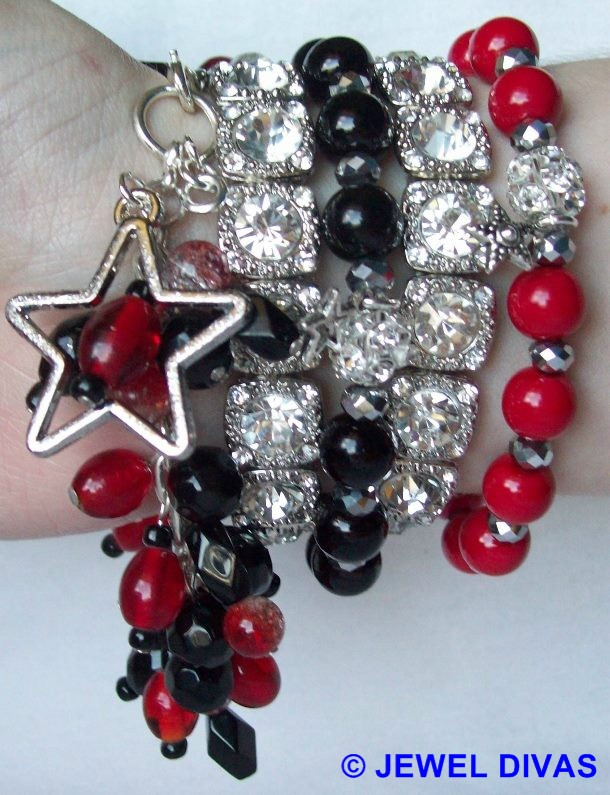 "JEWEL DIVAS ""RED CARPET TREATMENT"" BRACELET STACK"
