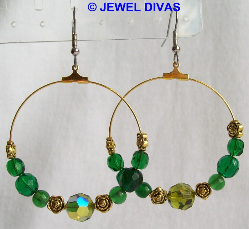 "JEWEL DIVAS ""TWELVE OAKS"" EARRINGS"