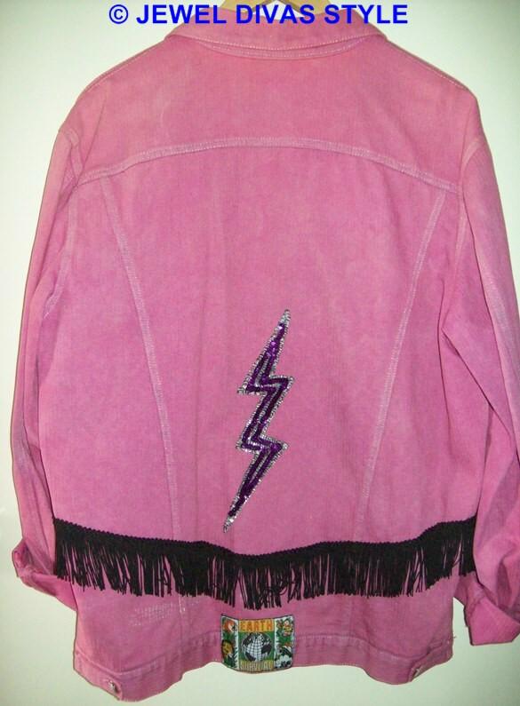 pink denim back