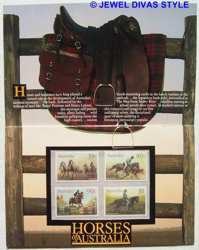 HORSES OF AUSTRALIA STAMPS