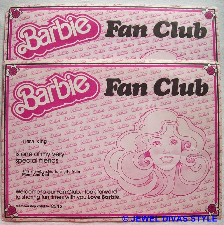 BARBIE FAN CLUB CERTIFICATES