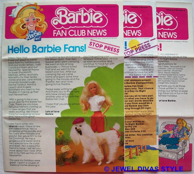BARBIE NEWS LETTERS