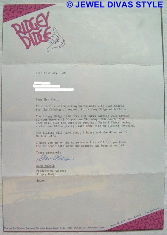 Ridgey Didge letter