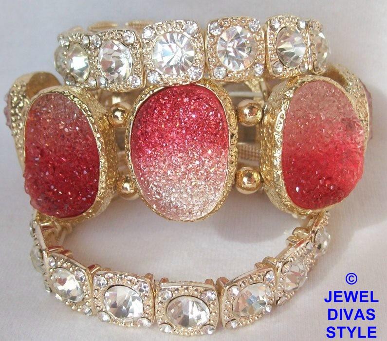 Jewel Divas druzy bracelet stack