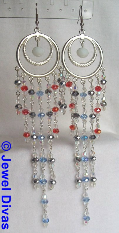 "JEWEL DIVAS ""AUSTRALIA DAY"" EARRINGS"
