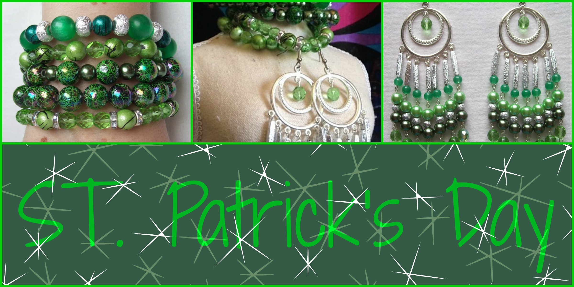 "JEWEL DIVAS ""ST PATTYS"" JEWELLERY SET"
