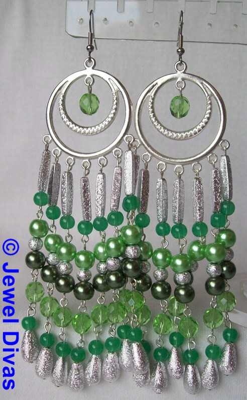 "JEWEL DIVAS ""ST PATTYS"" EARRINGS"