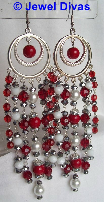 "JEWEL DIVAS ""VALENTINA"" EARRINGS"