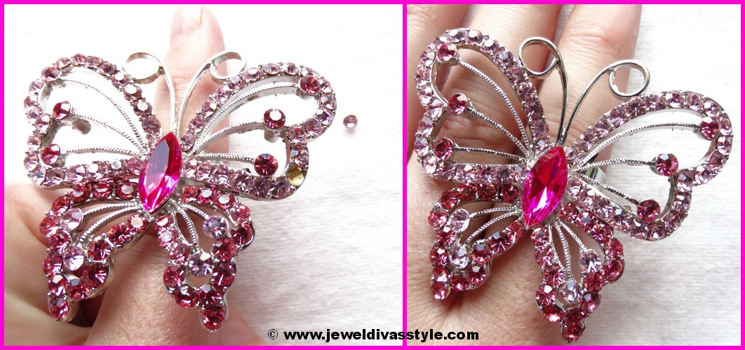 JDS PINK BUTTERFLY RING