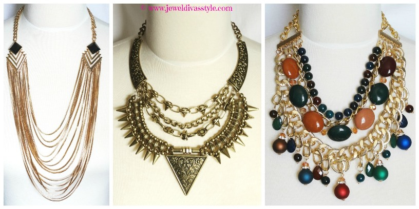 JDS - GOLD AND MULTI GOLD NECKLACES