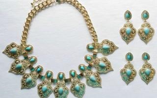 DESIGNER INSPIRED: Marrakesh necklace and earring set
