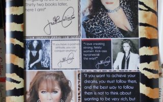 Jackie Collins. It's been two years since you passed away…