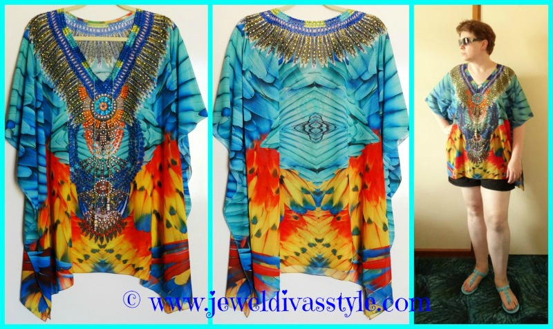 JDS - FEATHER KAFTAN TOP
